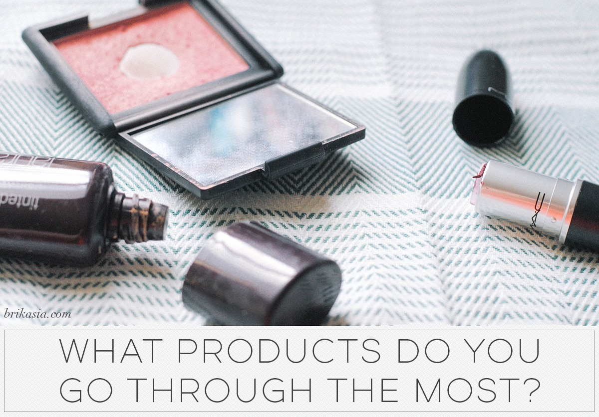 What Products Do You Go Through the Most, makeup empties