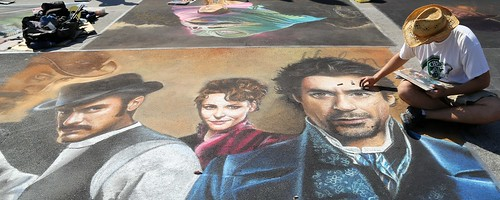 Best of LW Street Painting 2011 - 2015 - Sherlock Holmes - See others from Group 1 in Comments below