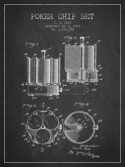 Poker Chip Set Patent from 1928