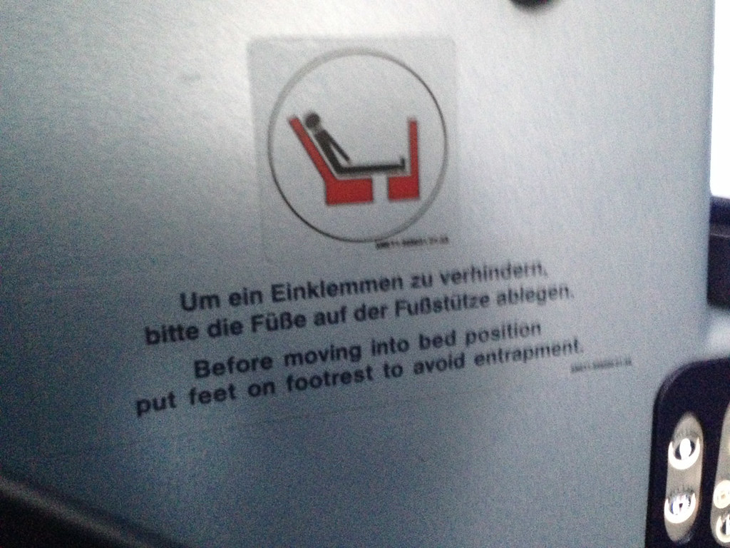 Seat warning on Air Berlin
