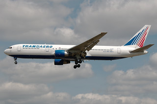 EI-DBF Transaero Boeing 767-300ER Heathrow