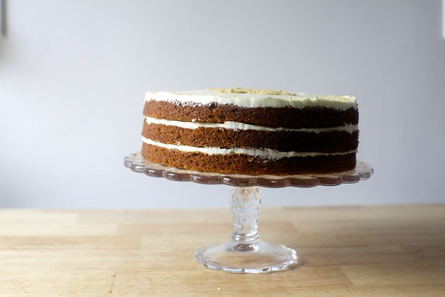 carrot graham layer cake