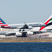 Emirates Airbus A380 & American 757 by AirlineFlyer