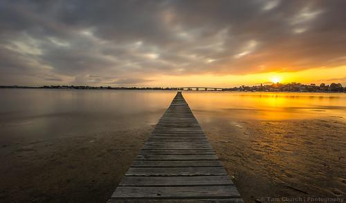 sunrise golden vibrant jetty sydney australia newsouthwales sylvania sylvaniawaters