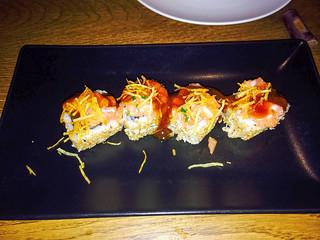 Rolls de langostinos en tempura