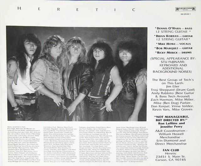 """HERETIC BREAKING POINT 12"""" Vinyl LP"""