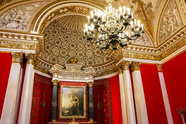Hermitage Museum, Saint Petersburg, Russia サンクトペテルブルク、エルミタージュ美術館の「ピョートル大帝の間」