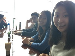 Jiwon and friends at Victoria Peak 03 19 15