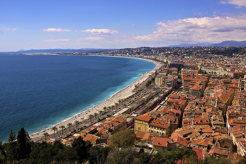 """Blue"" coastline of Nice"