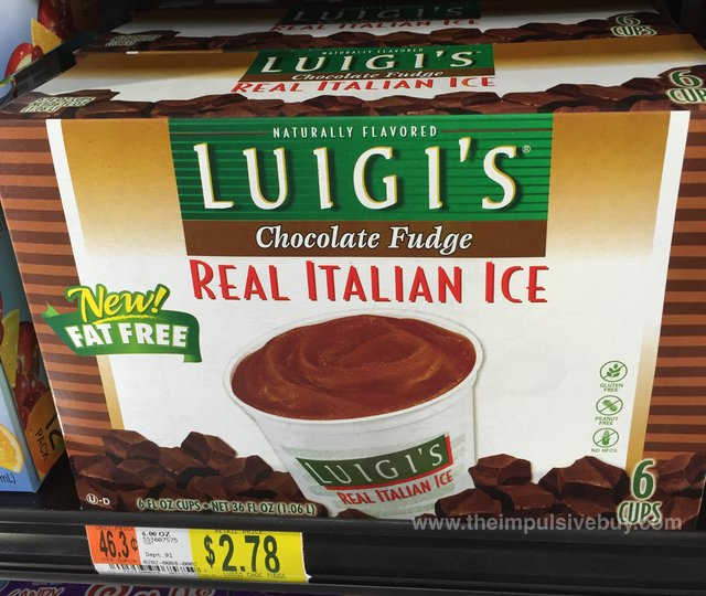 Luigi's Chocolate Fudge Real Italian Ice