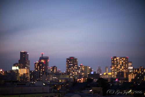 japan night landscape miyagi 風景 夜 2015 宮城県 仙台市 東北地方 若林区 nikond610