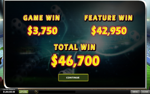 free Football Carnival slot bonus feature winning