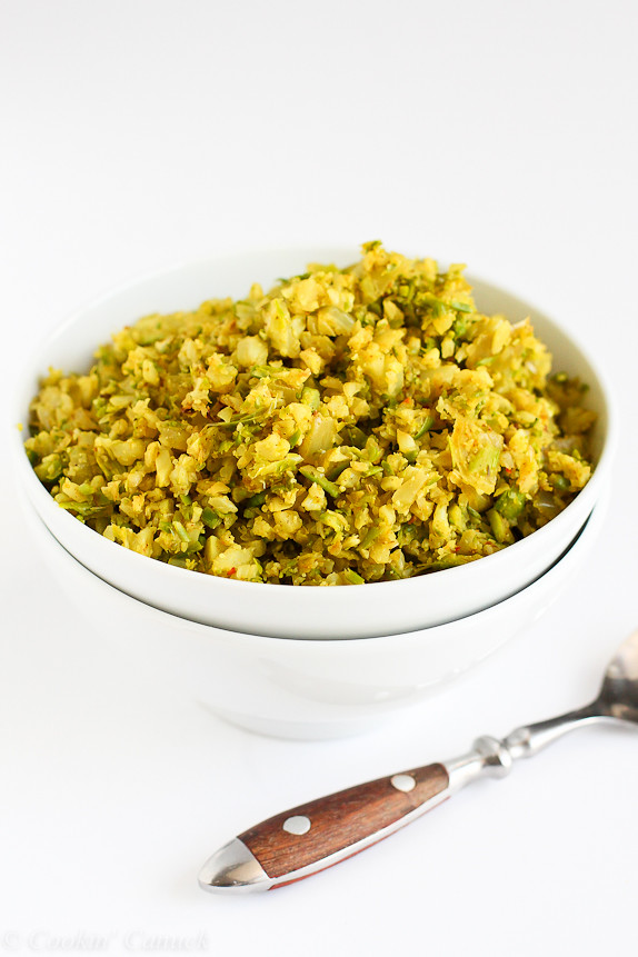 Curry Asparagus and Cauliflower Rice Recipe...A fantastic, low-carb ...