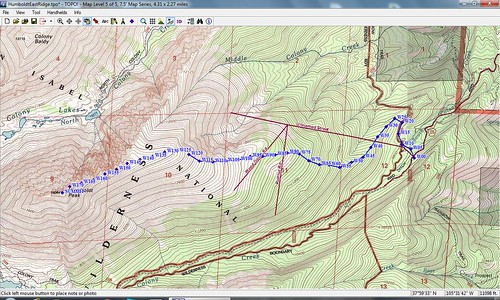 Humboldt Peak East Ridge Topographic Map