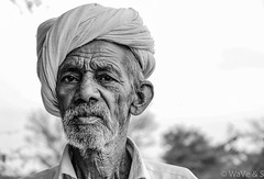 Old Age Eyes - Portrait Black White