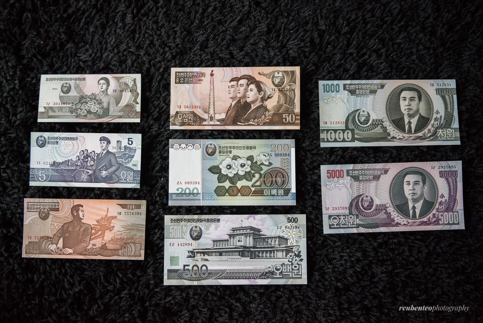 North Korean Won Set