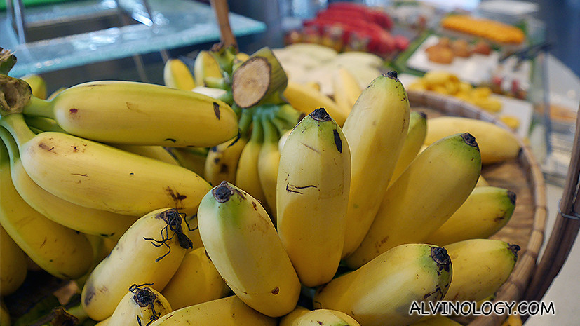 Bananas and other fresh fruits