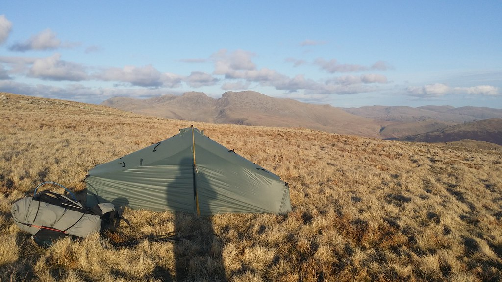 Camp with a view of the Scafells #sh