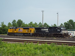 NS C40-9W 8950 and UP SD70AH 8843