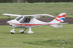 G-CESW - 2007 build Flight Design CTSW, rolling for departure on Runway 26L at Barton
