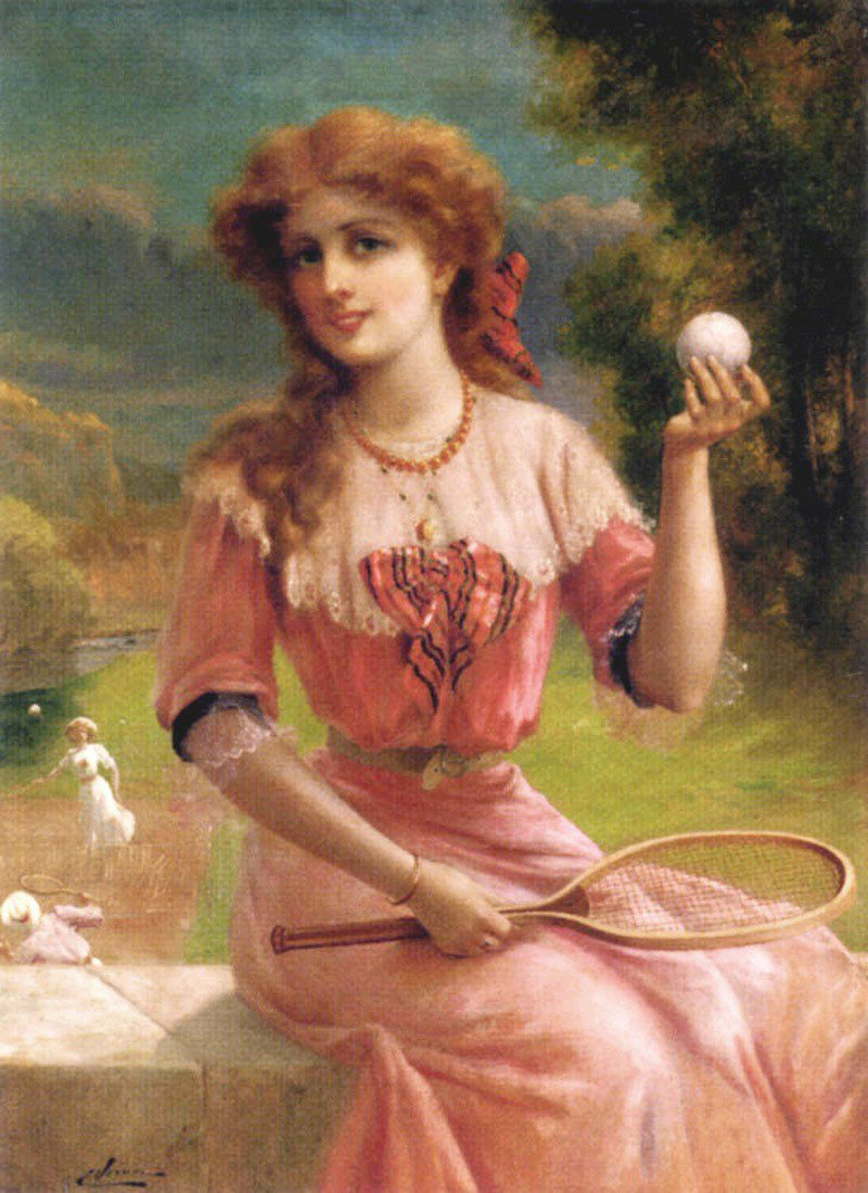 Tennis Anyone by Emile Vernon (French, 1872 - 1919)
