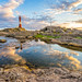 The day fades at Eigeroy lighthouse by Richard Larssen