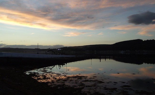 Looking over to the Black Isle from south Kessock pier Inverness Scotland