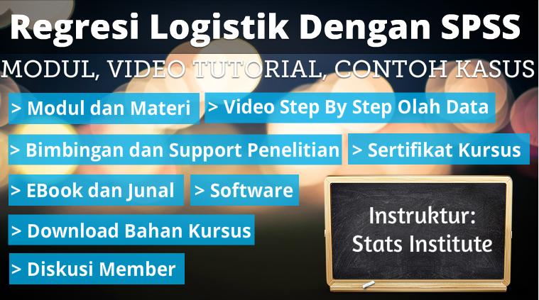 regresi logistik dengan spss