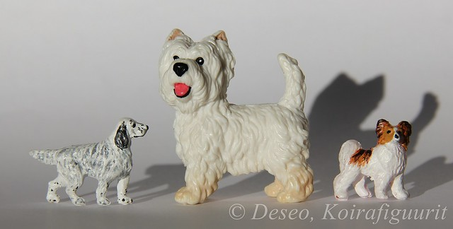Miniature dogs and Schleich Westie