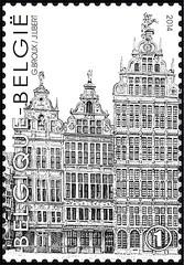 16 Markt Van Antwerpen timbre d