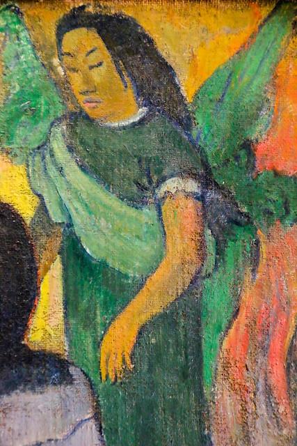Angel painting by Gauguin (part), Hermitage Museum, Saint Petersburg, Russia エルミタージュ美術館、ゴーギャンの描く天使