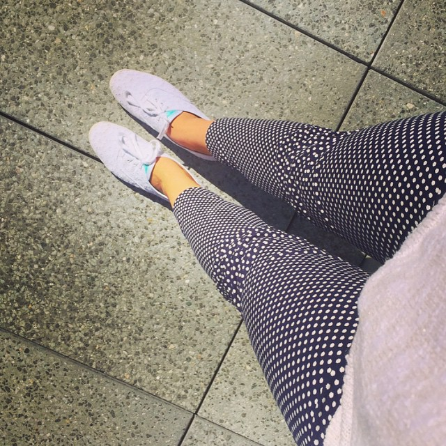 It's spring, so polka dots and Keds 🔵⚪️