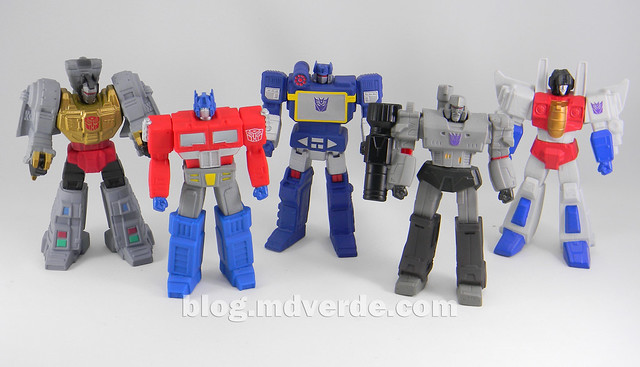 Transformers Titan Warriors SDCC Exclusive (Grimlock, Optimus Prime, Megatron, Soundwave Starscream) - modo robot