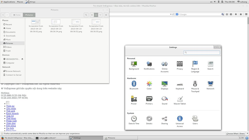 CentOS 7 64bit Settings