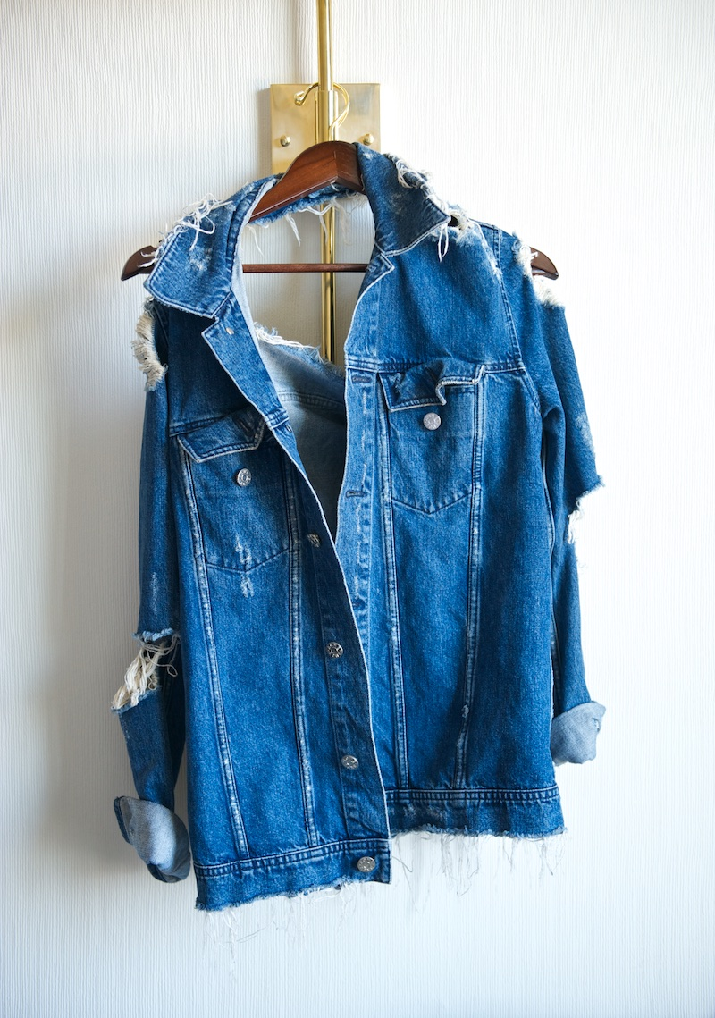 Acne distressed denim jacket