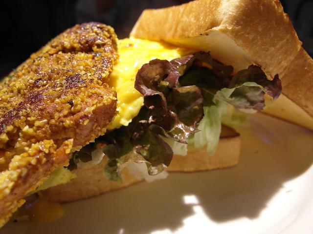 卡疆嫩煎雞胸歐姆蛋三明治 $180@樂樂小時光有機食材餐廳(附有親子遊戲區)