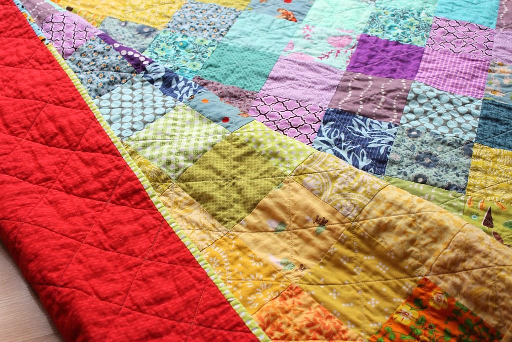 Rainbow Charm Quilt 1