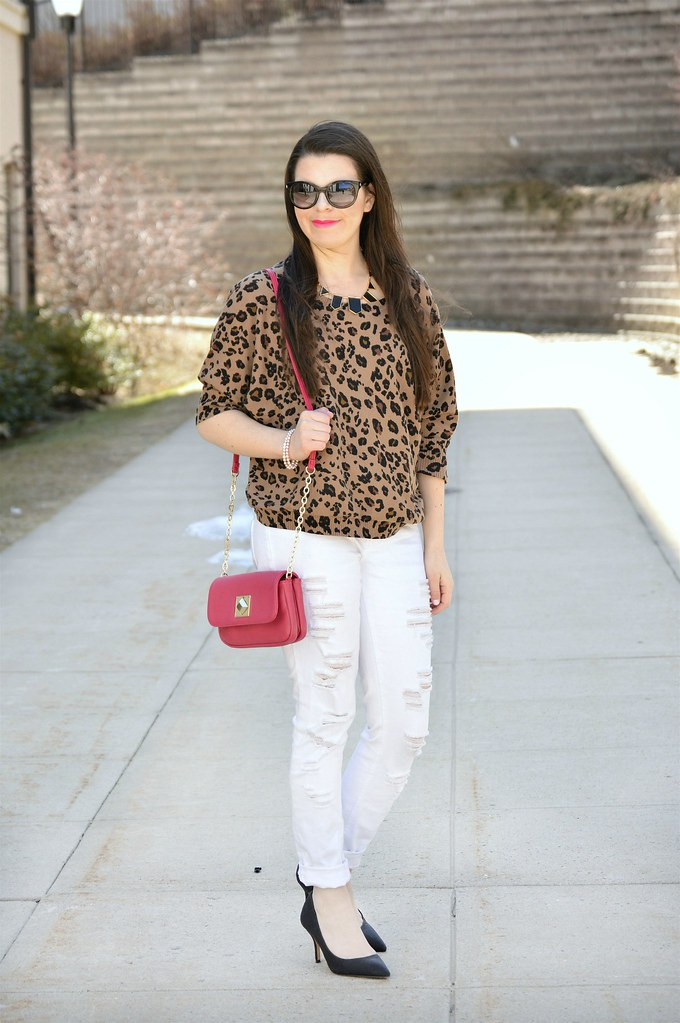 pants and animal print top 2