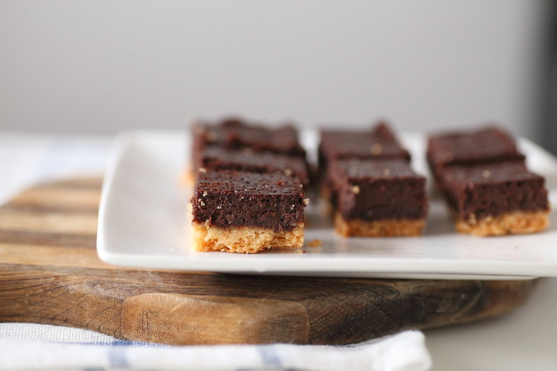 Chocolate truffle shortbreads