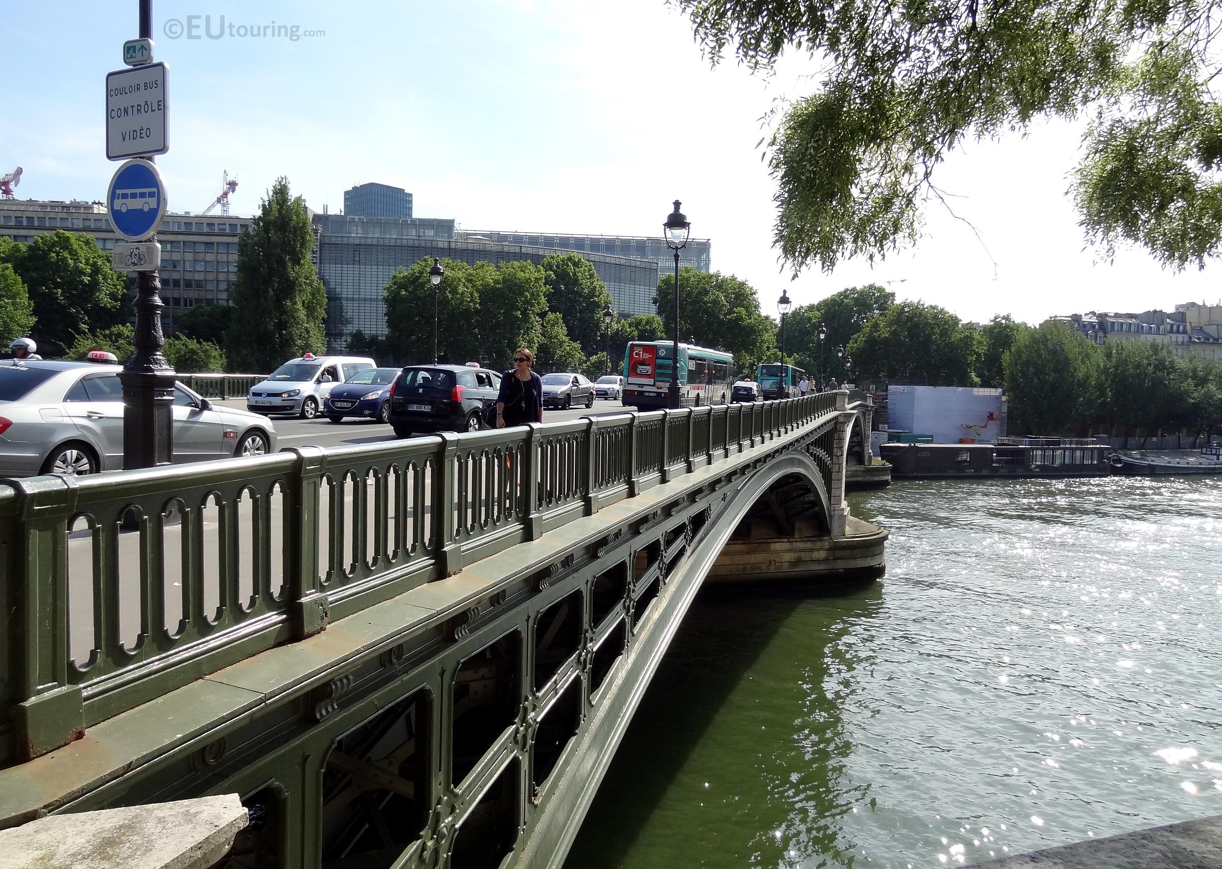 Iron railing of the bridge