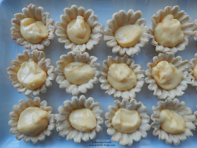 mini tarte cu vanilie