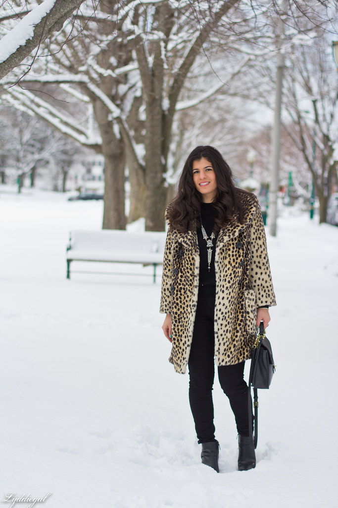 spring snow, leopard coat, black sweater.jpg