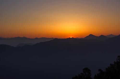 sunset mountain sunrise landscape dawn rays bluehour lansdowne uttarakhand agcgwinner kaludanda कालूडाण्डा