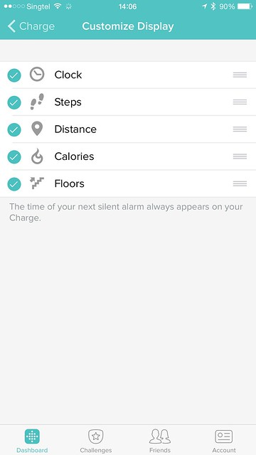 Fitbit iOS App - Customize Display