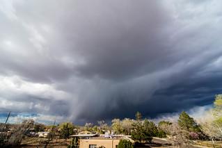 spring storm; albuquerque