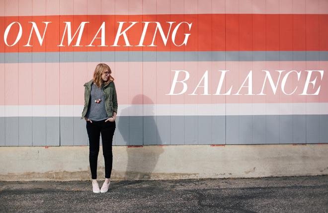 on-making-balance