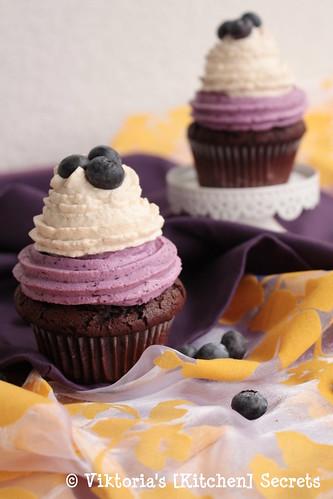 Schoko-Banane-Heidelbeer-Cupcakes, Viktoria's [Kitchen] Secrets