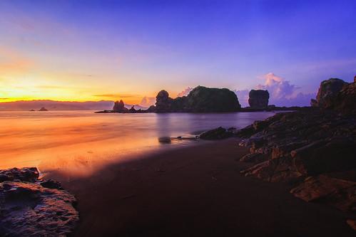 Before Sunrise At Side East Of Payangan Beach, Jember