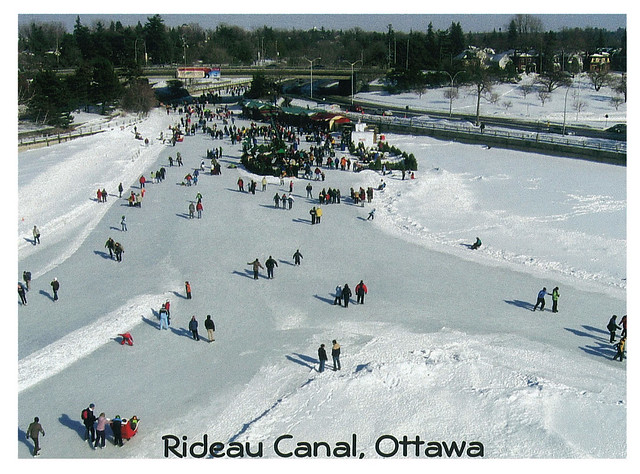 Canada - Ottawa - Rideau Canal at winter