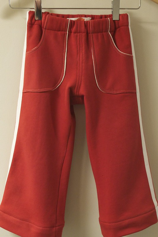 retro red track pants